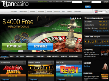 Titan Casino Homepage Preview