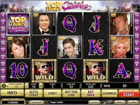 Top Trumps Celebs Game Preview