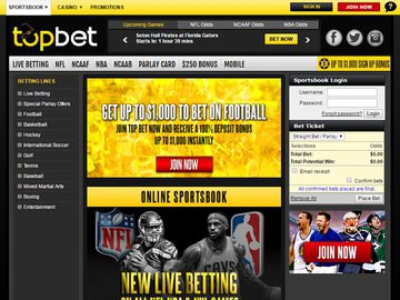 TopBet Homepage Preview