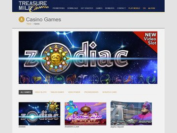Treasure Mile Casino Software Preview
