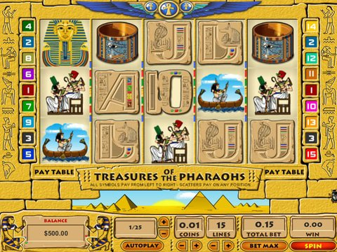 Treasures of the Pharaohs Game Preview