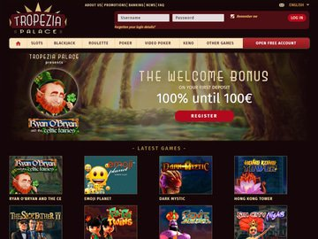 Tropezia Palace Casino Homepage Preview
