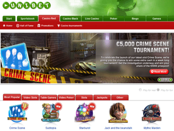 Unibet Casino Homepage Preview