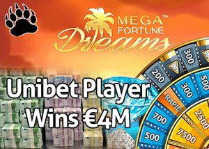 Unibet Player Wins €4M on Mega Fortune Dreams Slot