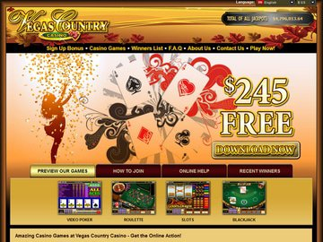 Vegas Country Casino Homepage Preview