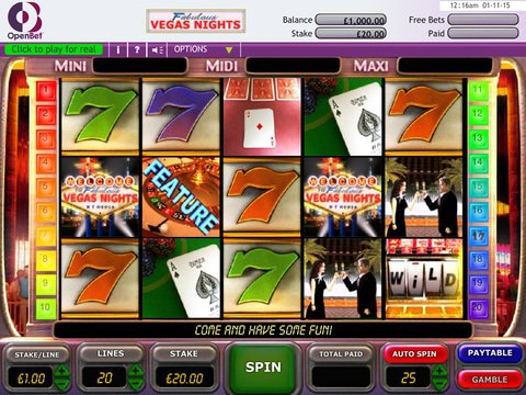 Vegas Nights Free Demo Slot with No Download or Registration