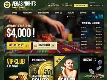 Vegas Nights Homepage Preview