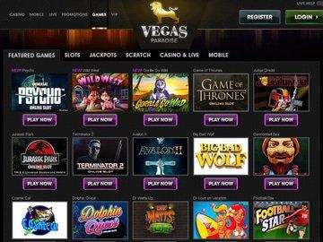 Vegas Paradise Casino Software Preview