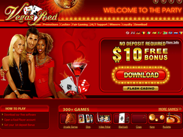 Vegas Red Casino Homepage Preview