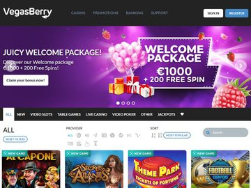 VegasBerry Homepage Preview