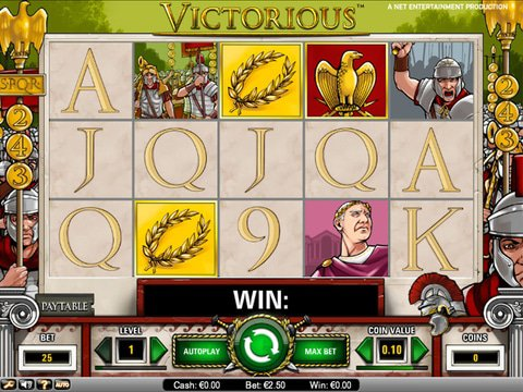 Relax with No Download Victorious Slots from Net Ent