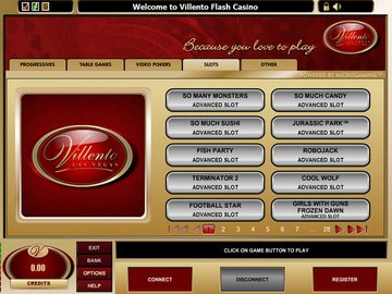 Villento Casino Software Preview