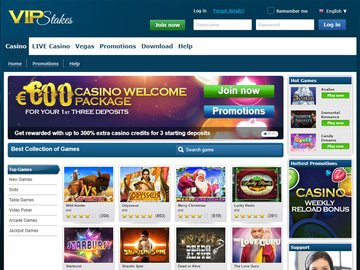 VIP Stakes Casino Software Preview