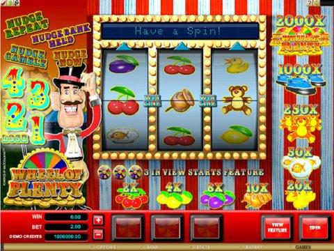 Wheel of Plenty Game Preview