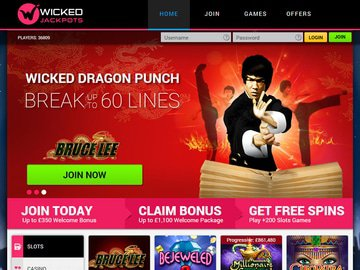 Wicked Jackpots Casino Homepage Preview