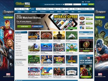William Hill Casino Homepage Preview