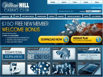 William Hill Homepage Preview