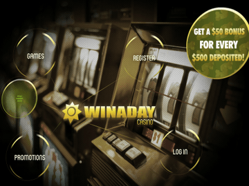 Win A Day Casino Homepage Preview