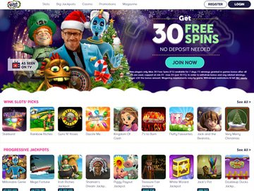 Wink Slots Casino Homepage Preview