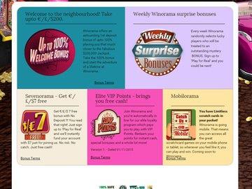 Winorama Casino Software Preview