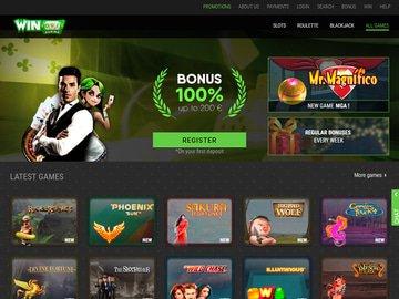 Winoui Casino Homepage Preview