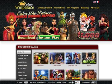 Winpalace Play Casino Homepage Preview