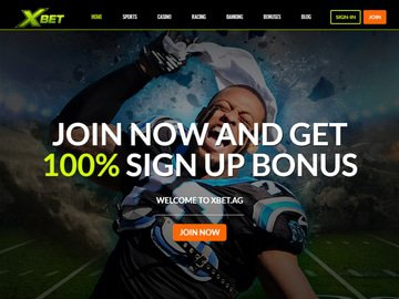 Xbet Casino Homepage Preview