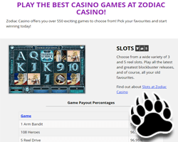 zodiac casino licensing and security online in canada