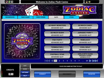 Zodiac Casino Software Preview